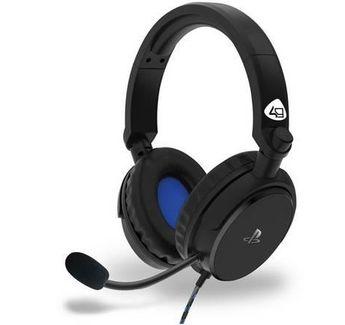 4Gamers - Casque de jeu stéréo filaire PRO 4-50S Noir pour PS5 et PS4