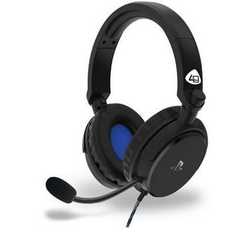 4Gamers - PRO 4-50S PS4 Licensed Wired Stereo Gaming Headset Black