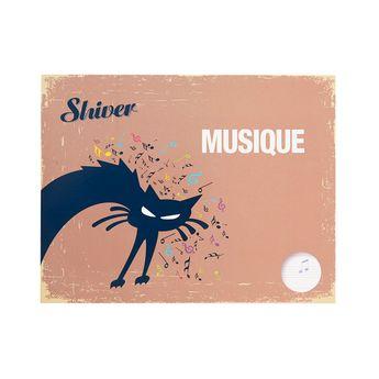 Cahier de Musique - 22x17cm Horizontal 48 pages - Shiver