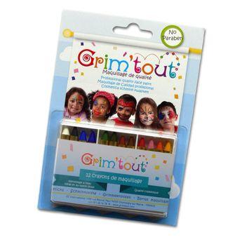 GRIM'TOUT Boîte 12 crayons de maquillage (Ø 8,5 x 60 mm)
