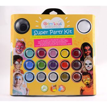 Coffret Super Party Kit 17 couleurs GRIM'TOUT