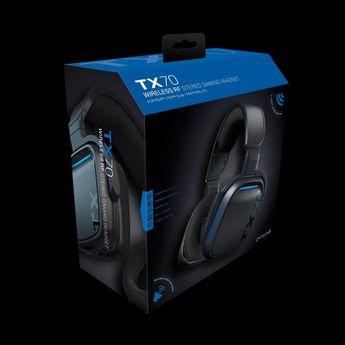 Gioteck TX70 - Casque Gamer Noir Sans Fil PC/Mac/Xbox One/PS4/Nintendo Switch
