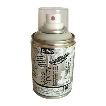 Bombe de peinture - DecoSpray - Argent Pailleté - 100 ml - Pébéo