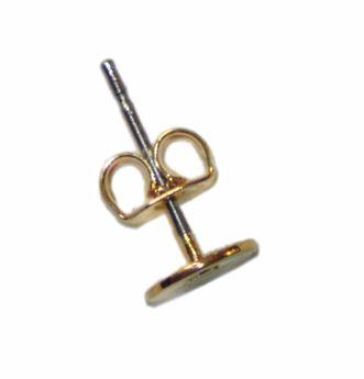 Boucle d'oreille 6mm 2pcs doré