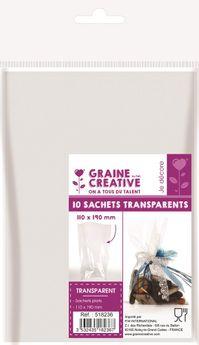 10 sachets transparents 110x190 sans soufflet