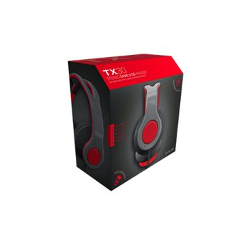 Gioteck - Casque stéréo Game & Go TX30 Rouge Grill pour PS5, PS4, Xbox Series, Xbox One, Switch et Mobile