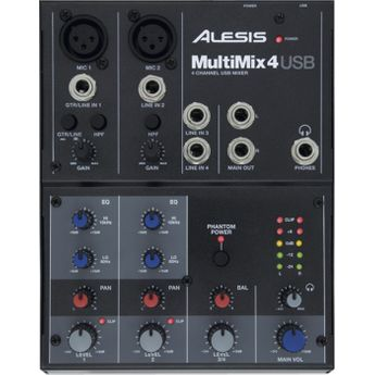 Alesis - Table de Mixage - Multimix USB 4 voies / 6 entrées