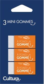3 mini-gommes - Cultura