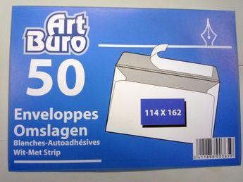 Enveloppes 114x162 - 50 pièces