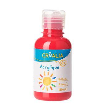 Peinture Acrylique Brillante - 150 ml - Rouge Vermeil - Créalia