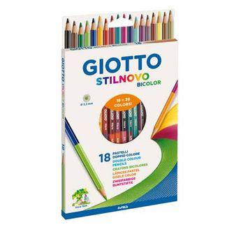 18 crayons de couleur Giotto Bicolor