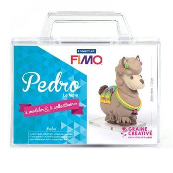Valisette figurine fimo - Pedro le lama