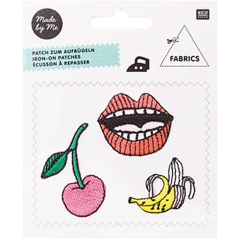 Ecusson à repasser cerise bouche banane