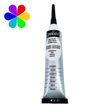 Cerne relief - Vitrail - Argent Mat - 20 ml - Pébéo