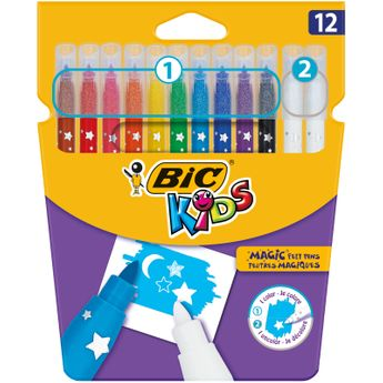 BIC Kids Feutres de Coloriage Magiques - Etui Carton de 12