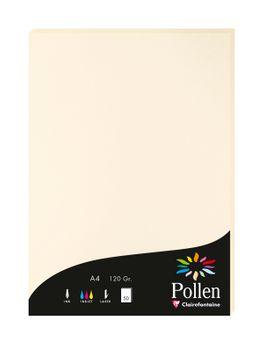 1 étui de 50 feuilles Pollen 210x297 mm 120g  - Ivoire