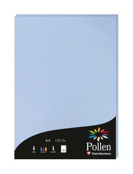 1 étui de 50 feuilles Pollen 210x297 mm 120g  - Bleu lavande