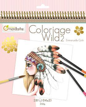 Carnet de coloriage Wild 2