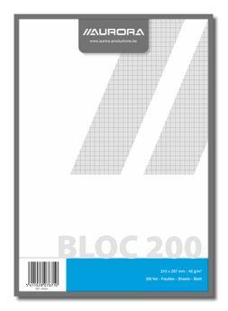 BLOC BROUILLON A4 200FLLS Q5X5