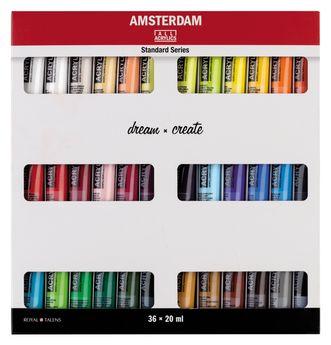 Amsterdam couleurs acrylique set 36 x 20ml