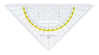Equerre géométrique Geo-Dreieck® avec poignée,hypoténuse 20cm