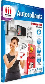 Papier Autocollant Transparent A4 8f