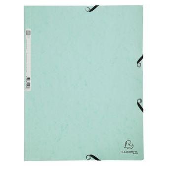 Chemise 3 rabats + élastique A4 carte AQUAREL vert